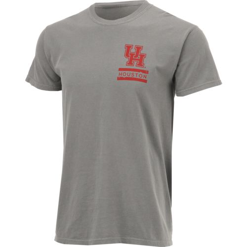 Image One Men's University of Houston Comfort Color Distressed Flag T-shirt - view number 3