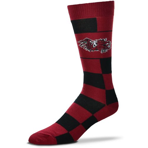 For Bare Feet University of South Carolina Jumbo Check Thin Knee High Dress Socks