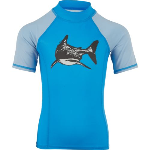 O'Rageous Boys' Sketchy Shark Printed Rash Guard