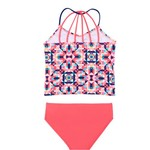 O'Rageous Girls' Geo Jive 2-Piece Tankini - view number 1