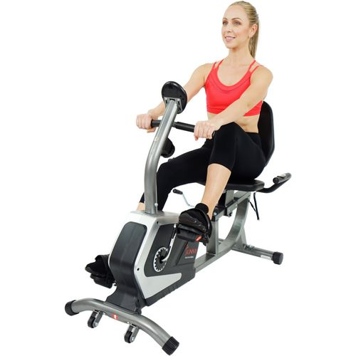 Sunny Health & Fitness Easy Adjustable Seat Recumbent Bike - view number 4