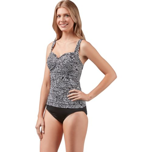 Jantzen Women's Marrakesh Nights Twist Front 1-piece Swimsuit