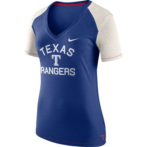 Nike Women's Texas Rangers V-neck Fan Top - view number 1