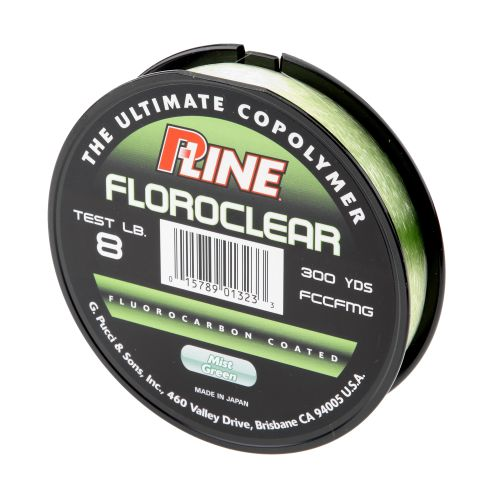 P-Line® Floroclear 8 lb. - 300 yards Fluorocarbon Fishing Line
