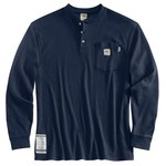 Carhartt Men's' Flame-Resistant Long Sleeve Henley Shirt