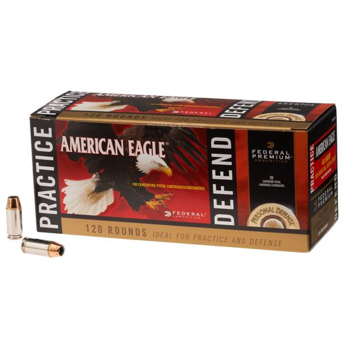 Image for Federal Premium® Practice and Defense .40 S&W 180-Grain Centerfire Ammunition from Academy