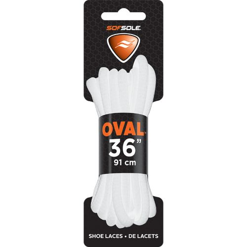 "Sof Sole® Athletic Oval White 36"" Shoelaces"