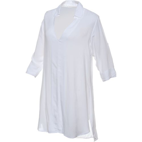 O'Rageous® Juniors' 3/4 Sleeve Collared Boyfriend Cover Up
