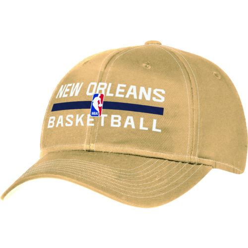 adidas™ Adults' New Orleans Pelicans Authentic Practice Structured Adjustable Cap