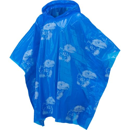 Storm Duds Adults' University of Kansas Lightweight Hooded Stadium Poncho