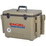 Engel 30 qt. Cooler/Dry Box with Rod Holders - view number 1