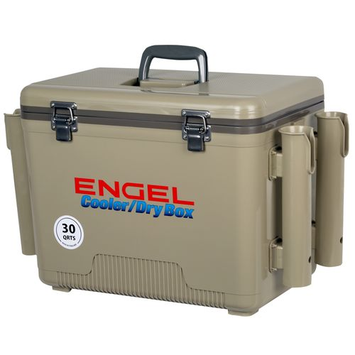 Cooler/Dry Box With Rod Holders