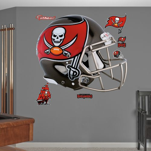 Fathead Tampa Bay Buccaneers Helmet and Team Decals 7-Pack