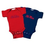 Atlanta Hosiery Company Toddlers' University of Mississippi Lap Shoulder Creepers 2-Pack