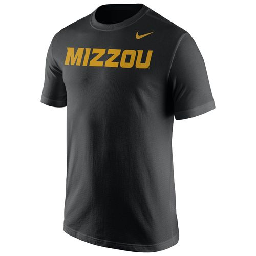 Nike™ Men's University of Missouri Cotton Short Sleeve Wordmark T-shirt