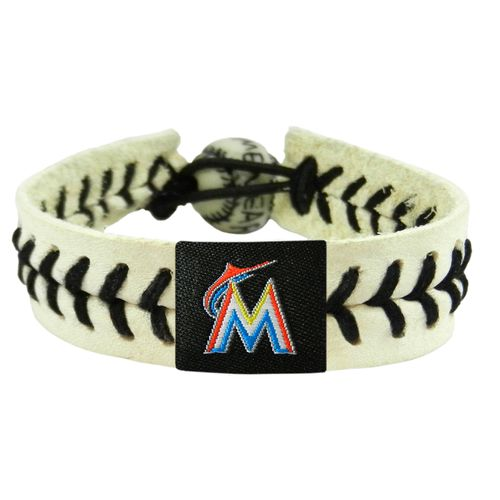 GameWear Miami Marlins Genuine Baseball Bracelet