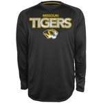 Majestic Men's University of Missouri Section 101 Raglan Heather Synthetic T-shirt