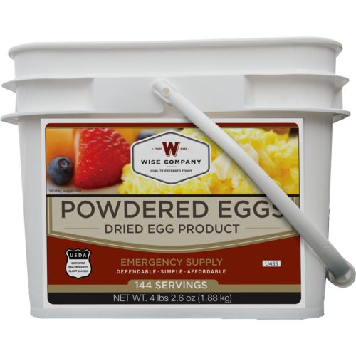 Display product reviews for Wise Company 144-Serving Powdered Eggs Bucket