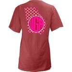 Three Squared Juniors' University of Georgia Quatrefoil State Monogram T-shirt