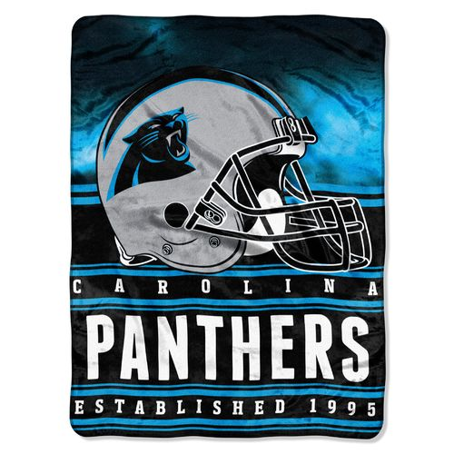 The Northwest Company Carolina Panthers Stacked Silk Touch
