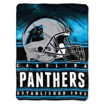 The Northwest Company Carolina Panthers Stacked Silk Touch Throw