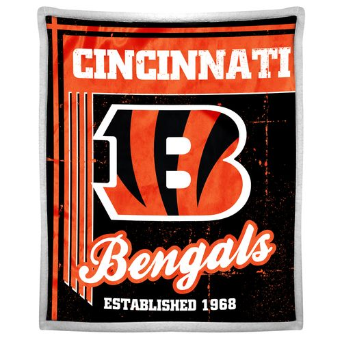 The Northwest Company Cincinnati Bengals Old School Mink with Sherpa Throw
