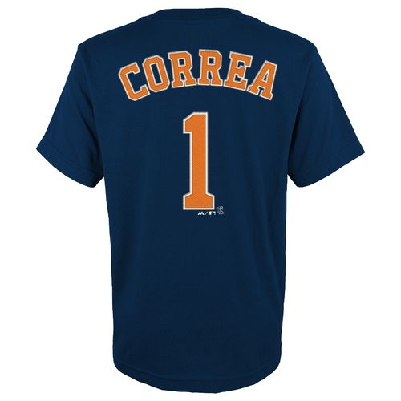 Majestic Boys' Houston Astros Carlos Correa #1 Cotton