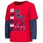 Colosseum Athletics Toddler Girls' University of Mississippi Super Cool Layered T-shirt