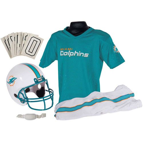Franklin Kids' Miami Dolphins Deluxe Uniform Set