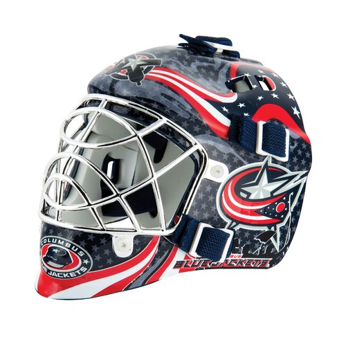 Franklin NHL Team Series Columbus Blue Jackets Mini Goalie Mask - view number 1