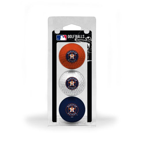 Team Golf Houston Astros Golf Balls 3-Pack