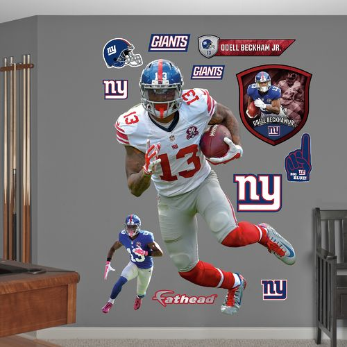 Fathead New York Giants Odell Beckham Jr. #13 Real Big Wall Decal