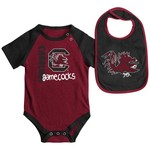Colosseum Athletics Infants' University of South Carolina Rookie Onesie and Bib Set