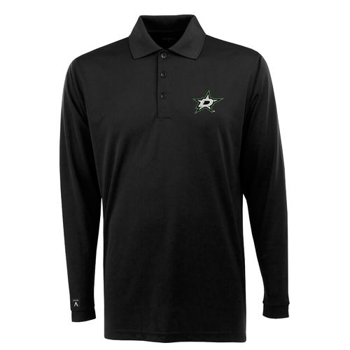 Antigua Men's Dallas Stars Exceed Long Sleeve Polo