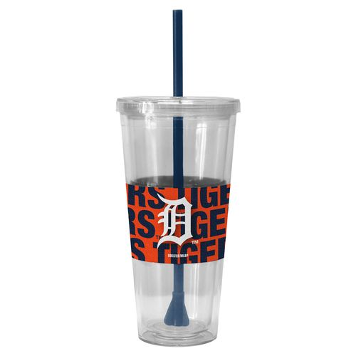 Boelter Brands Detroit Tigers Bold Neo Sleeve 22 oz. Straw Tumblers 2-Pack