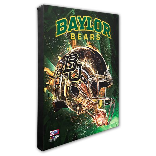 Photo File Baylor University Helmet Stretched Canvas Photo - view number 1