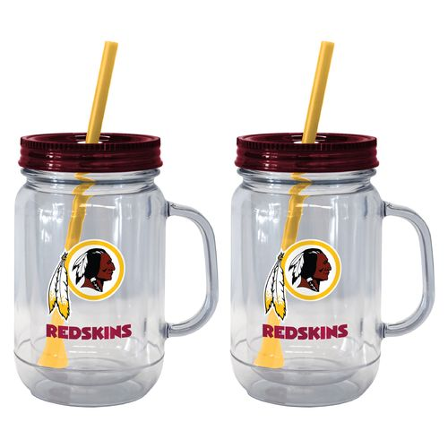 Boelter Brands Washington Redskins 20 oz. Handled Straw Tumblers 2-Pack