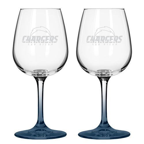 Boelter Brands San Diego Chargers 12 oz. Wine Glasses 2-Pack - view number 1
