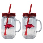 Boelter Brands University of Arkansas 20 oz. Handled Straw Tumblers 2-Pack - view number 1