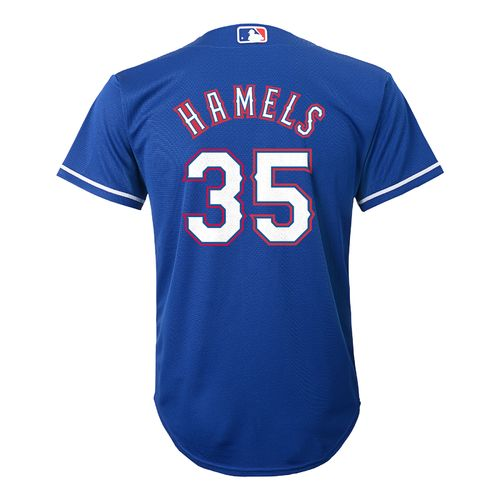 Majestic Boys' Texas Rangers Cole Hamels #35 Cool Base Alternate Replica Jersey