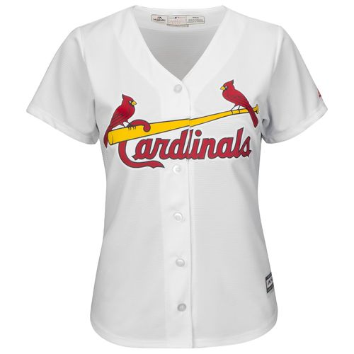 Majestic Women's St. Louis Cardinals Stephen Piscotty #55 Cool Base Replica Home Jersey - view number 2