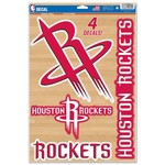 WinCraft Houston Rockets Multiuse Decals 4-Pack