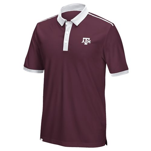 adidas Men's Texas A&M University Bonded Polo Shirt