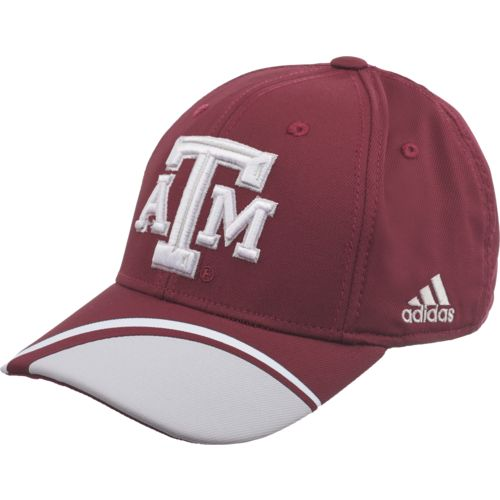 adidas™ Men's Texas A&M University Cut-N-Sew Structured Flex Cap