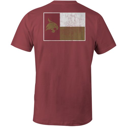 Image One Men's Texas State University State Flag Comfort Color T-shirt