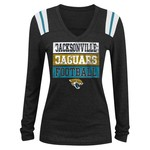 5th & Ocean Clothing Juniors' Jacksonville Jaguars Block Lettering Long Sleeve T-shirt