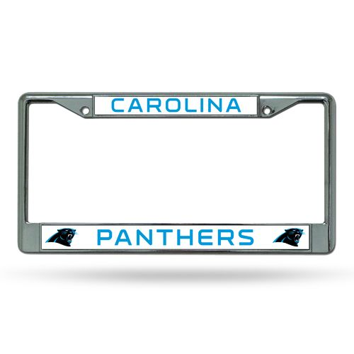 Rico Carolina Panthers Chrome License Plate Frame