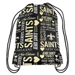 Team Beans Women's New Orleans Saints Collage Drawstring Backpack
