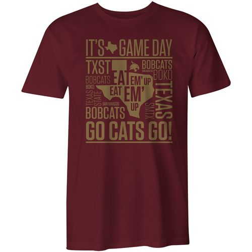 Image One Men's Texas State University Comfort Color Game Day Short Sleeve T-shirt