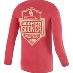 Image One Men's University of Oklahoma Finest Shield Comfort Color Long Sleeve T-shirt